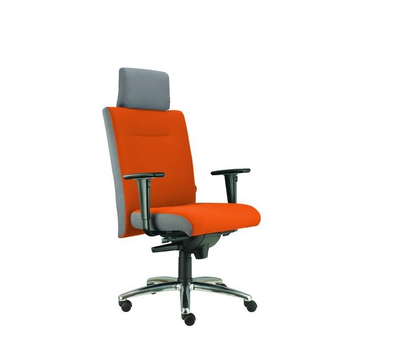 kancelářská židle Asidum s područkami a podhlavníkem, synchro P (suedine 46, sk.1)