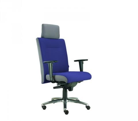kancelářská židle Asidum s područkami a podhlavníkem, synchro P (suedine 7, sk.1)