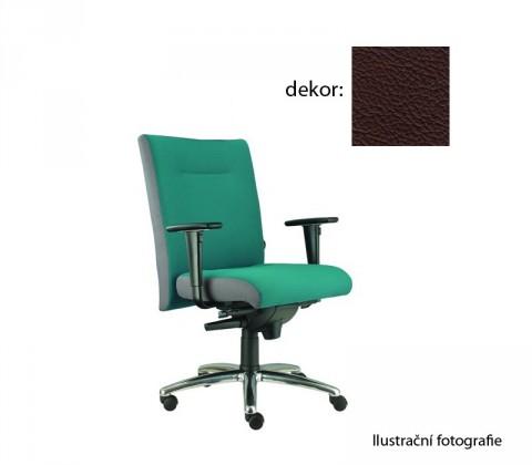 kancelářská židle Asidum s područkami, synchro P (kůže 177, sk.5)