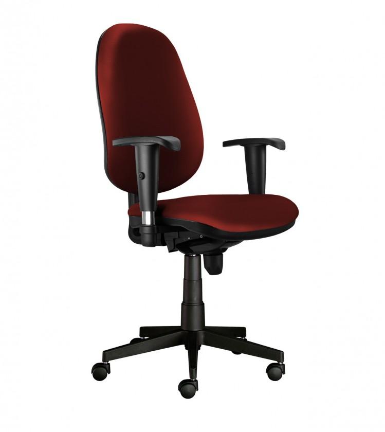 kancelářská židle Bruno - bez područek, T-synchro (potah - syntetická kůže)