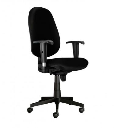 kancelářská židle Bruno - s područkami, E-synchro (potah - syntetická kůže)