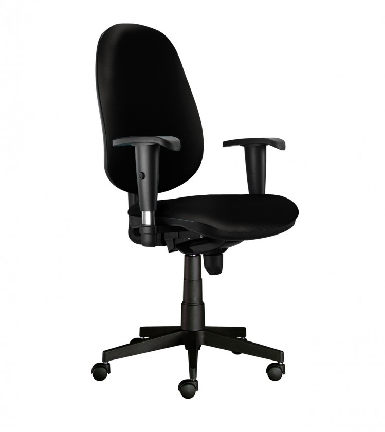kancelářská židle Bruno - s područkami, T-synchro (potah - kůže)