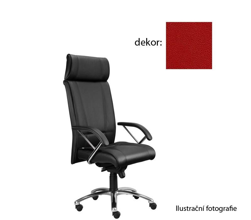 kancelářská židle Demos Boss - Kancelářská židle s područkami (koženka 14)