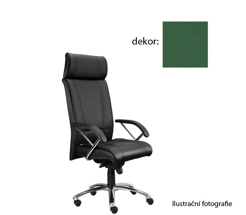 kancelářská židle Demos Boss - Kancelářská židle s područkami (kůže 161)