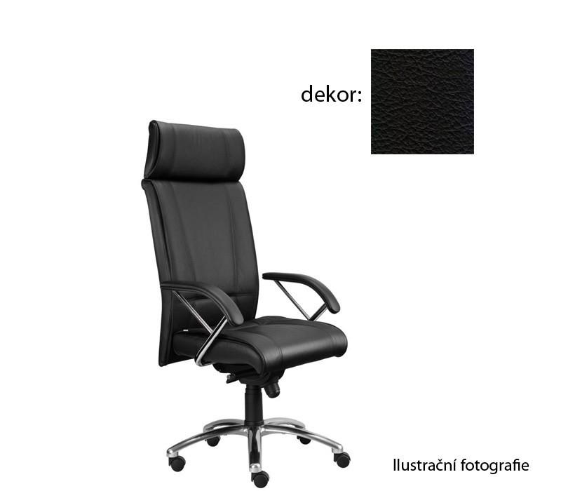 kancelářská židle Demos Boss - Kancelářská židle s područkami (kůže 176)