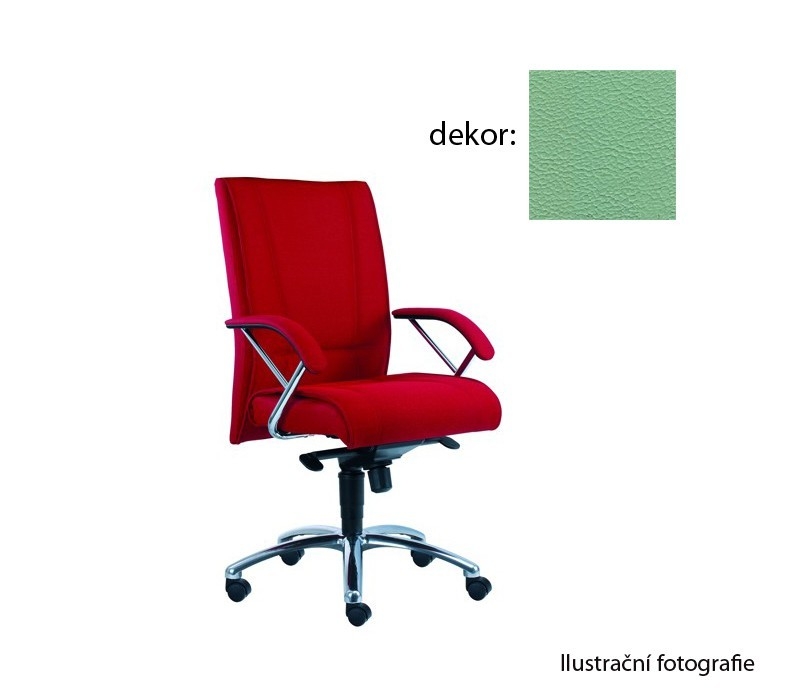 kancelářská židle Demos Prof - Kancelářská židle s područkami (koženka 89)