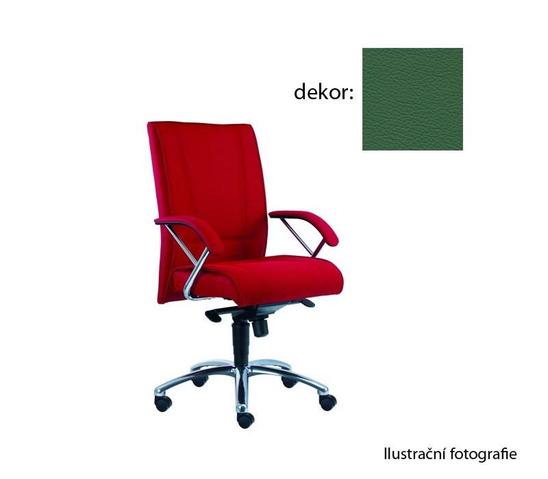 kancelářská židle Demos Prof - Kancelářská židle s područkami (kůže 161)