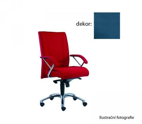 kancelářská židle Demos Prof - Kancelářská židle s područkami (kůže 166)