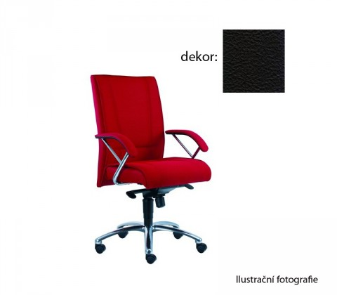 kancelářská židle Demos Prof - Kancelářská židle s područkami (kůže 176)