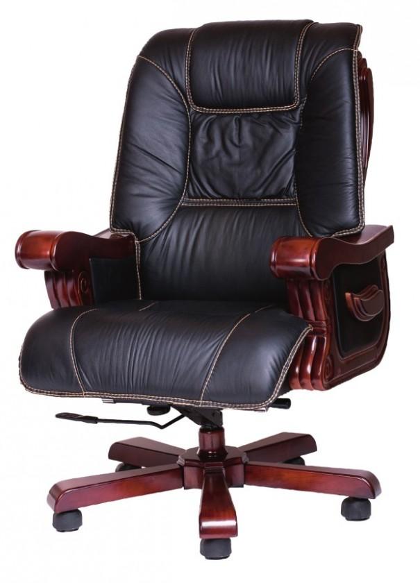 kancelářská židle Denver (černá, ořech)