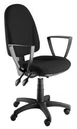 kancelářská židle Dona - s područkami P24, E-asynchro (potah - kůže)