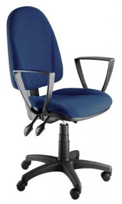 kancelářská židle Dona - s područkami P24, E-asynchro (potah - látka)