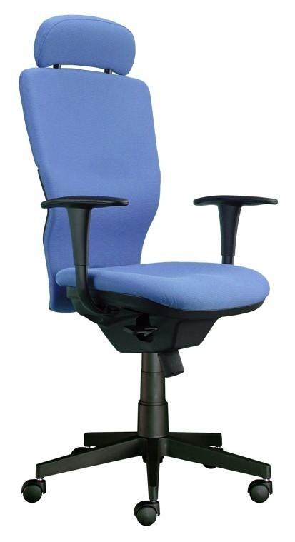kancelářská židle Ema šéf (Suedine 7, modrá)