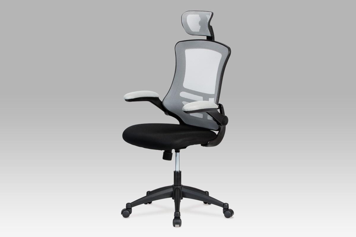kancelářská židle Kasper Grey - Kancelářská židle (šedá, černá)