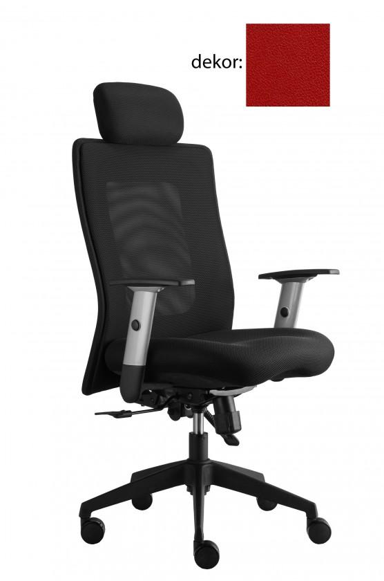kancelářská židle Lexa s podhlavníkem (koženka 14, sk.3)