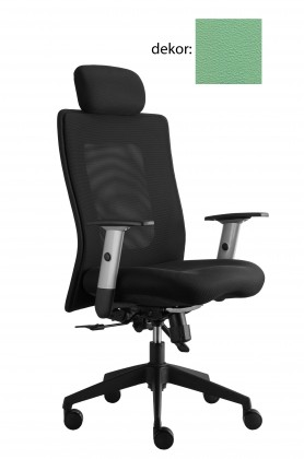kancelářská židle Lexa s podhlavníkem (koženka 89, sk.3)