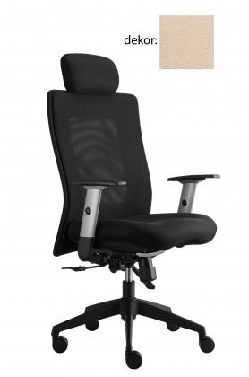 kancelářská židle Lexa s podhlavníkem (koženka 96, sk.3)