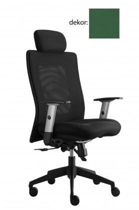 kancelářská židle Lexa s podhlavníkem (kůže 161, sk.5)