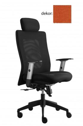 kancelářská židle Lexa s podhlavníkem (pola 115, sk.4)