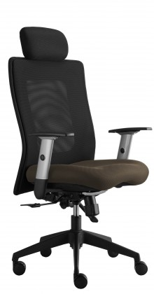 kancelářská židle Lexa s podhlavníkem (suedine 109, sk.1)
