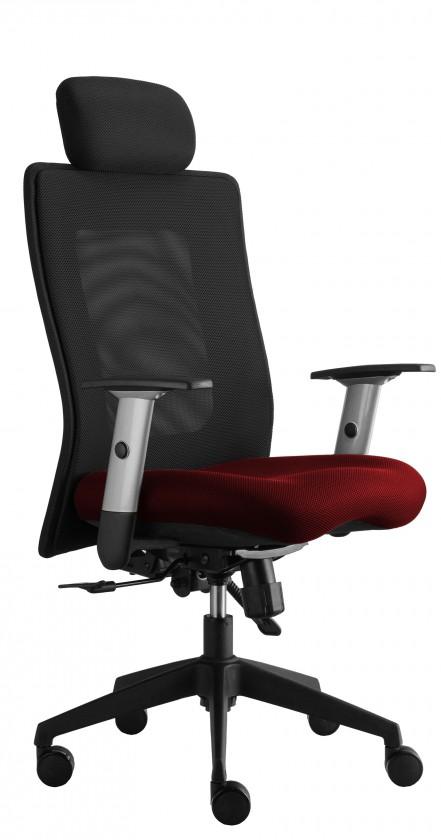 kancelářská židle Lexa s podhlavníkem (suedine 2, sk.1)