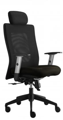 kancelářská židle Lexa s podhlavníkem (suedine 24, sk.1)