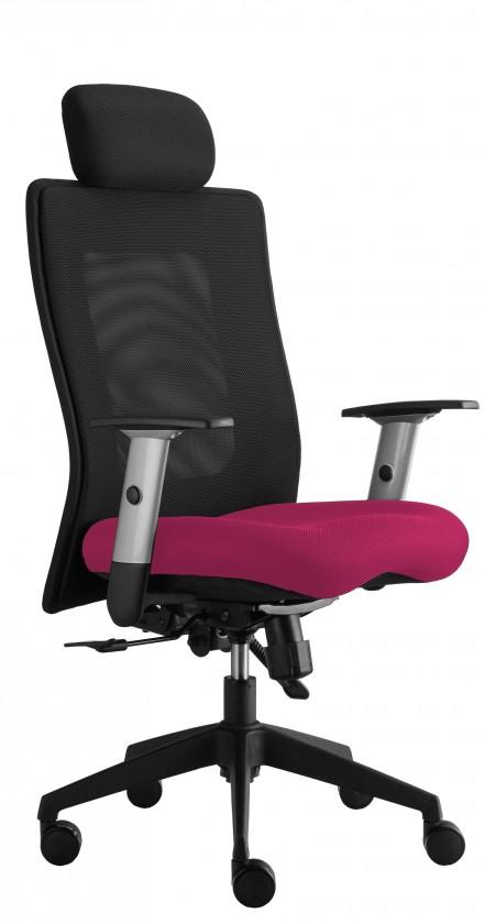 kancelářská židle Lexa s podhlavníkem (suedine 41, sk.1)