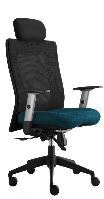 kancelářská židle Lexa s podhlavníkem (suedine 64, sk.1)