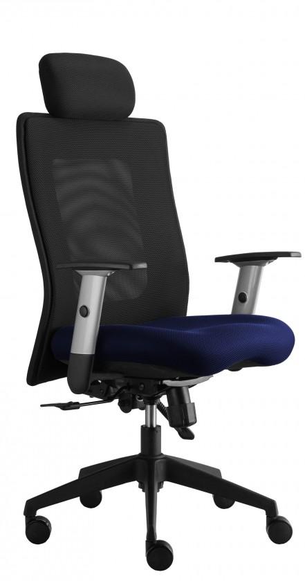 kancelářská židle Lexa s podhlavníkem (suedine 7, sk.1)
