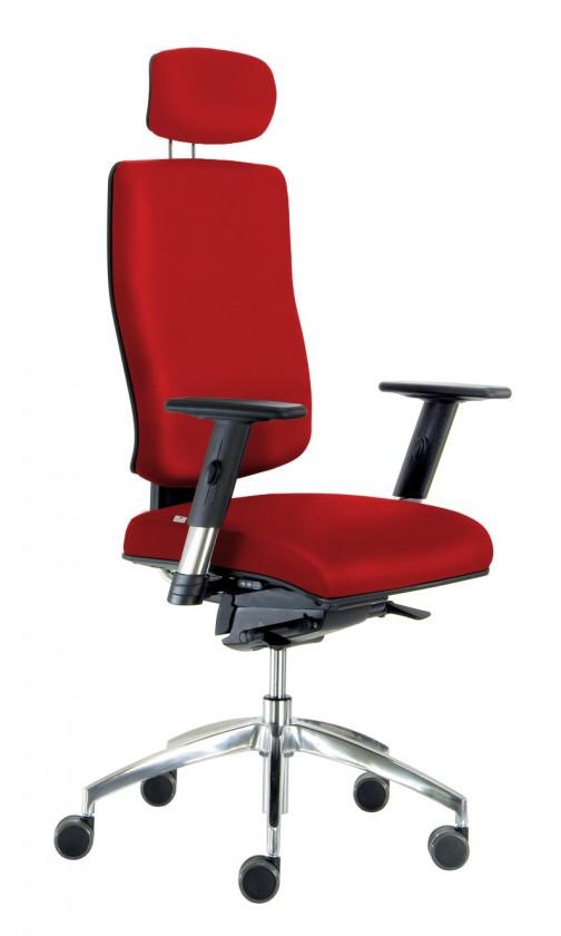 kancelářská židle Notio Boss - s područkami P68, podhlavník, synchro P (potah - syntetická kůže)