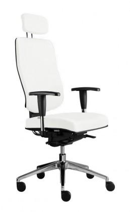 kancelářská židle Notio Boss - s područkami P93, podhlavník, synchro P (potah - syntetická kůže)