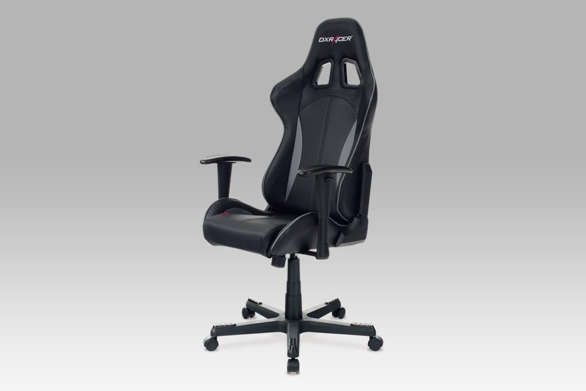 kancelářská židle Racer Blackhawk - Kancelářská židle (černá, koženka)