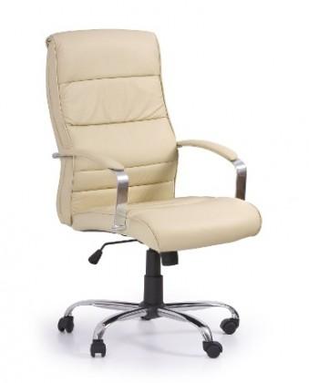 kancelářská židle Teksas - Kancelářské křeslo, mechanismus tilt, područky (krémová)