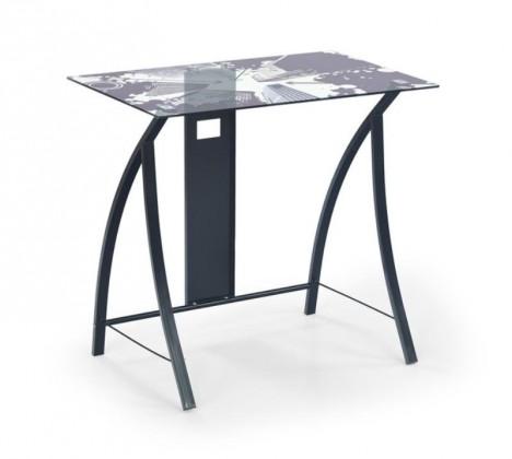 Kancelářský stůl B-21 (Sklo/černá)