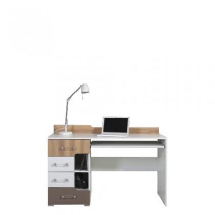 Kancelářský stůl BLOG BL 13 (jilm/bílá lesk/cappucino)