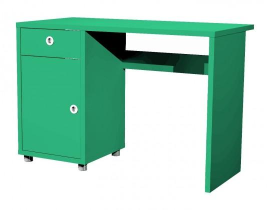 Kancelářský stůl Box - stůl, 1x dveře, 1x šuplík (jadeitová)