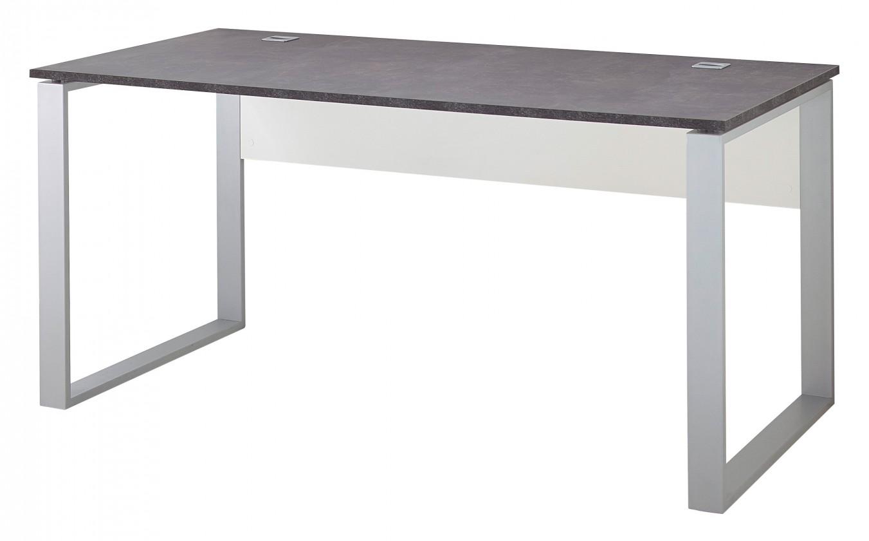 Kancelářský stůl GW-Altino - Stůl (bílá/čedičová šedá)
