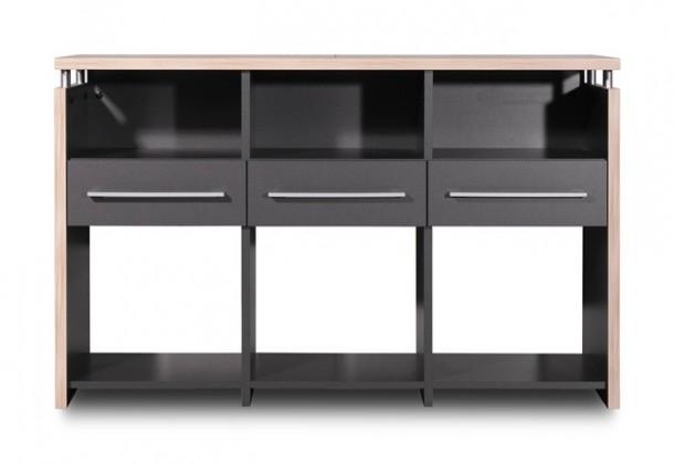 Kancelářský stůl GW-Duo - stůl (antracit, 3 zásuvky)