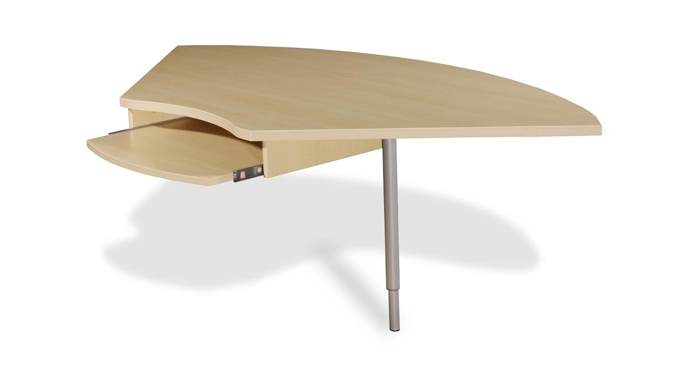 Kancelářský stůl GW-Profi-Spojovací roh stolu,výškově stavitelný (javor/stříbrná)