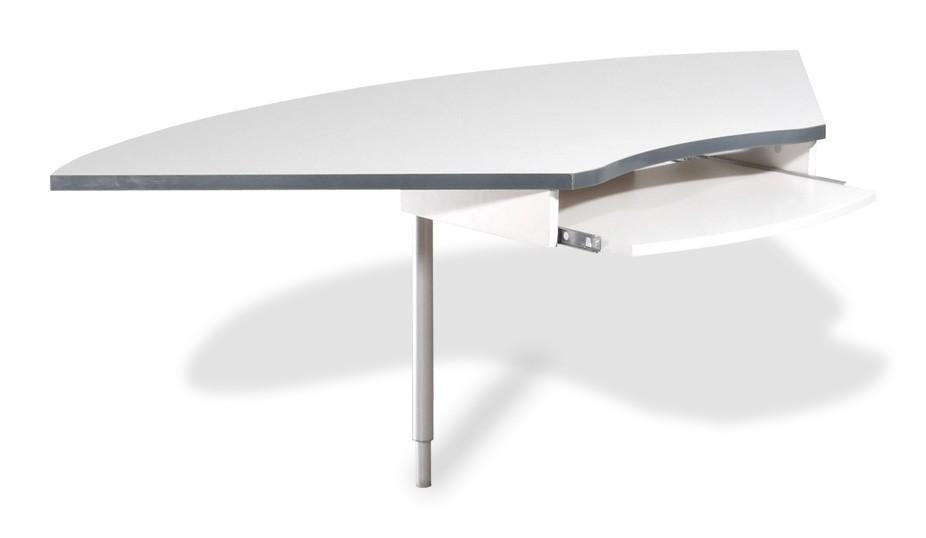 Kancelářský stůl GW-Profi-Spojovací roh stolu,výškově stavitelný (světle šedá)