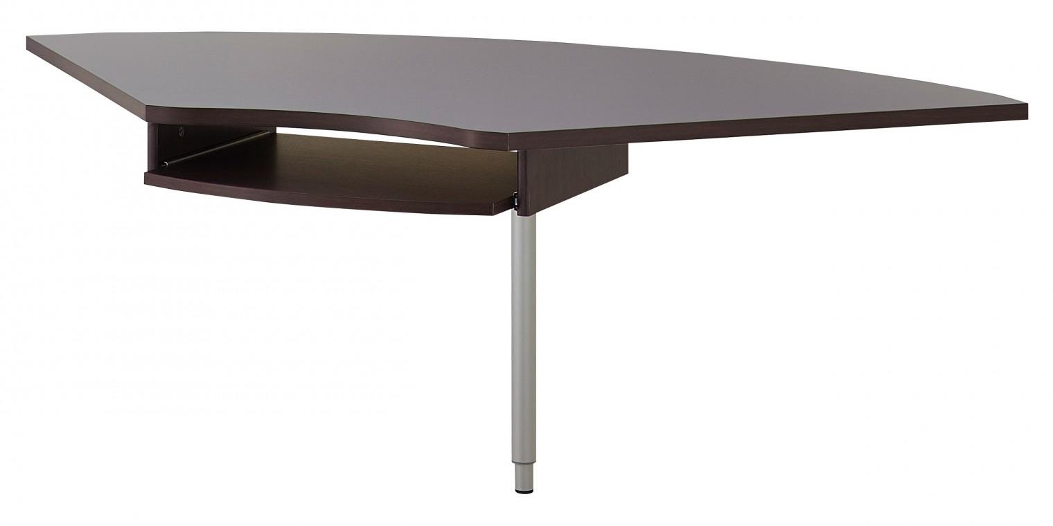 Kancelářský stůl GW-Profi - Výškově stavitelný spojovací roh stolu (dub havana)