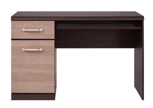 Kancelářský stůl Indi Psací stůl (dub wenge / chorona sucupira)