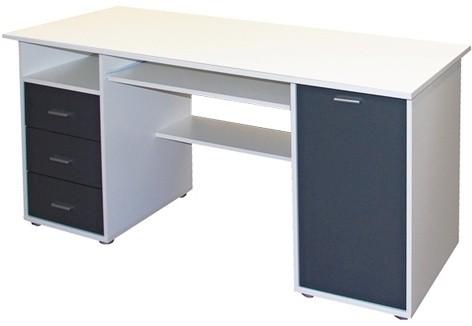Kancelářský stůl Jurášek (Bílá/antracit)