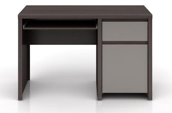Kancelářský stůl Kaspian BIU1D1S/120 (Wenge / šedá lesk)