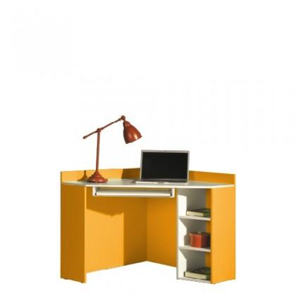 Kancelářský stůl LABYRINT LA 17 (krémová/oranžová)