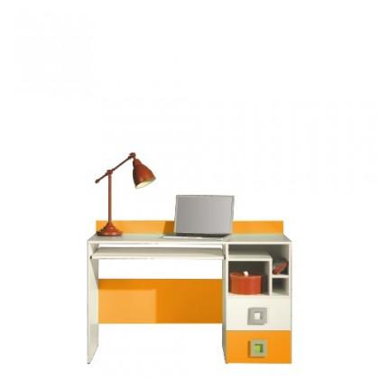 Kancelářský stůl LABYRINT LA 18 (krémová/oranžová)