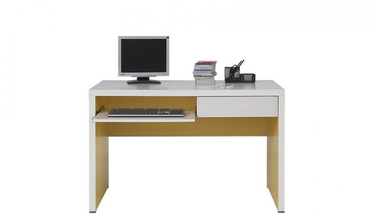 Kancelářský stůl Lemonade BIU/120 (Bílá/žlutá)