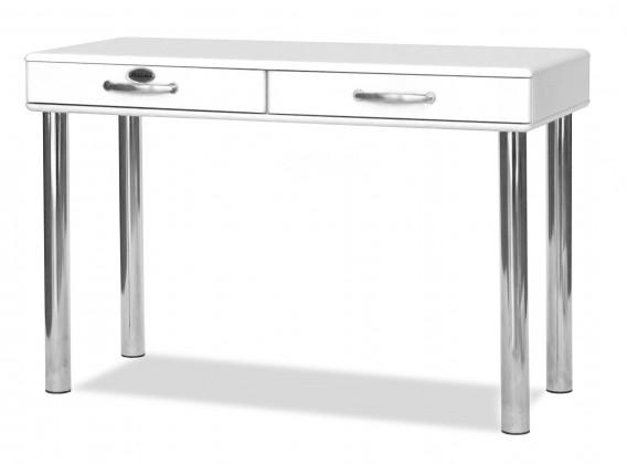 Kancelářský stůl Malibu - Psací stůl (bílá, 2x zásuvka)