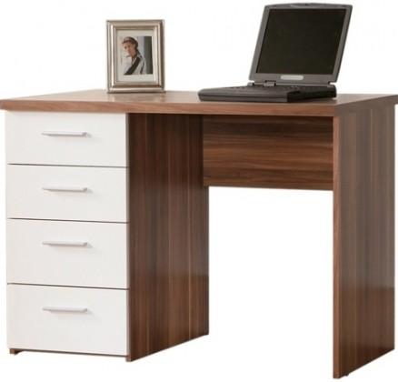 Kancelářský stůl MT935 (Ořech vlašský/bílá)