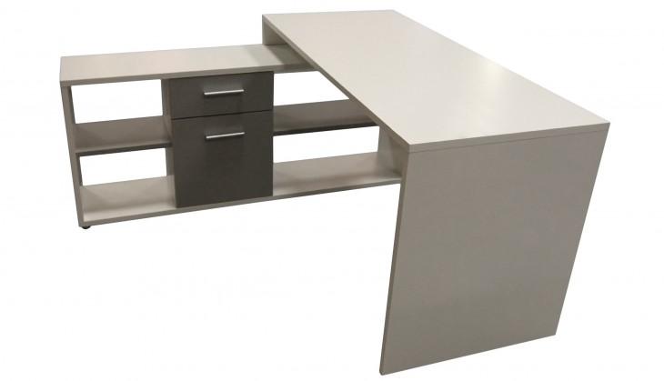 Kancelářský stůl MT959 (Bílá/Šedá)